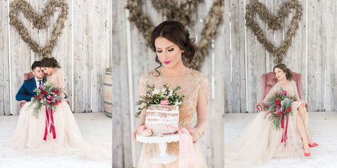 Gold Wedding Dress Dreamy Styled Shoot
