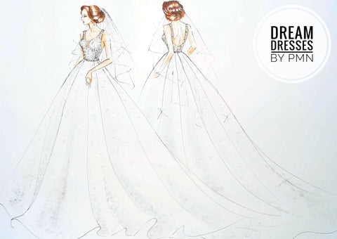 Custom designed bridal ball gown by Dream Dresses by PMN
