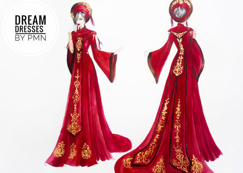 Queen Amidala's inspired wedding dress-Dream Dresses by PMN
