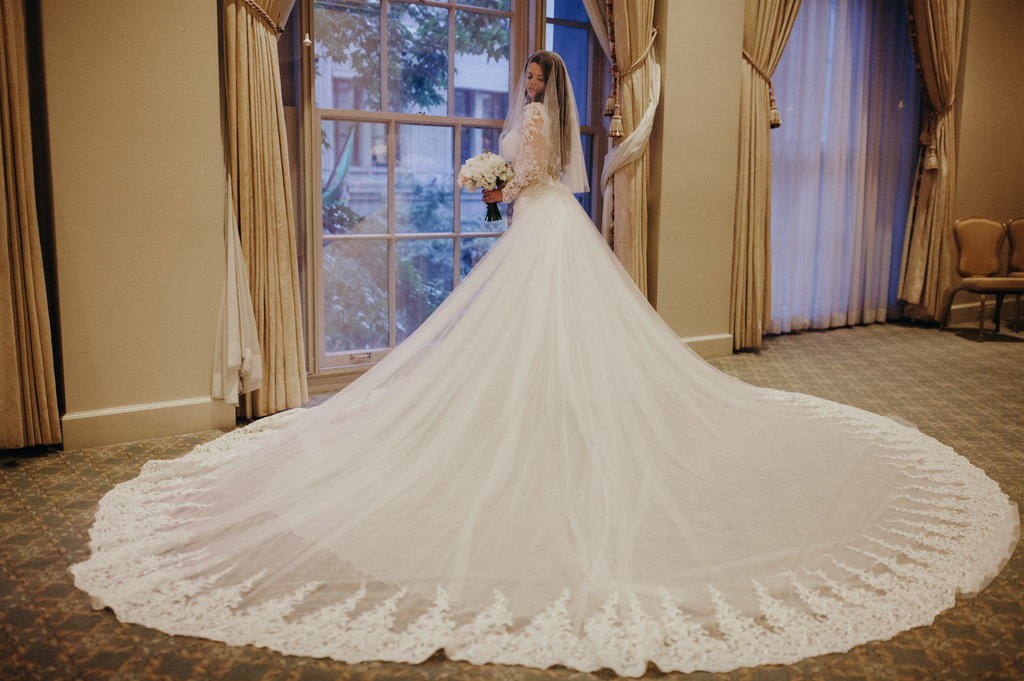Custom wedding dress-Dream Dresses by PMN-Detachable train