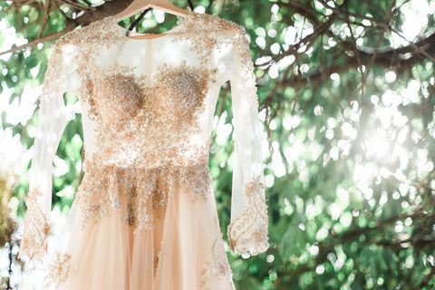 Gold wedding dress styled shoot-Dream dresses by PMN