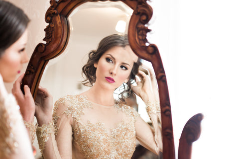 Gold Wedding Dress Dreamy Styled Shoot-Best Custom Made Wedding Dress Designer Online