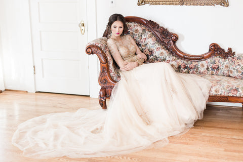 Gold wedding dress by Dream Dresses by PMN
