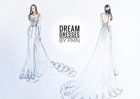 Custom designed Vietnamese traditional bridal Ao Dai by Dream Dresses by PMN