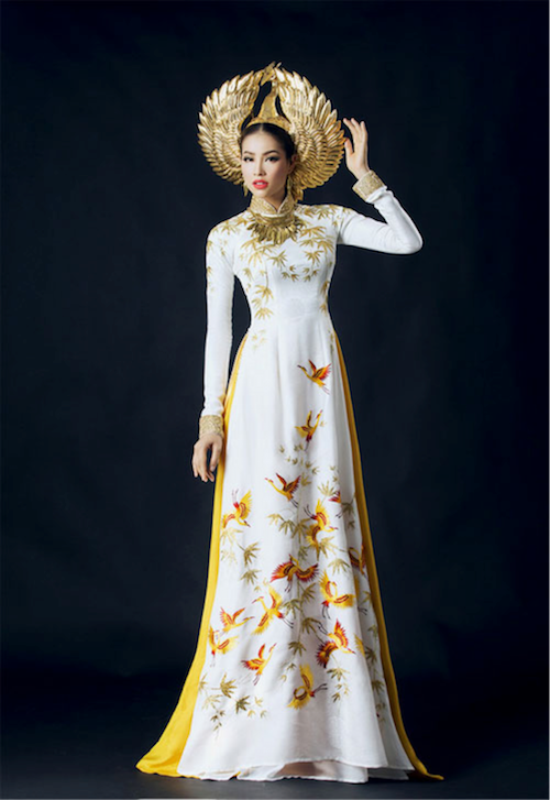 miss universe vietnam 2015 in ao dai