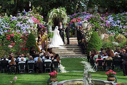 Thornewood Castle Garden Wedding Ceremony