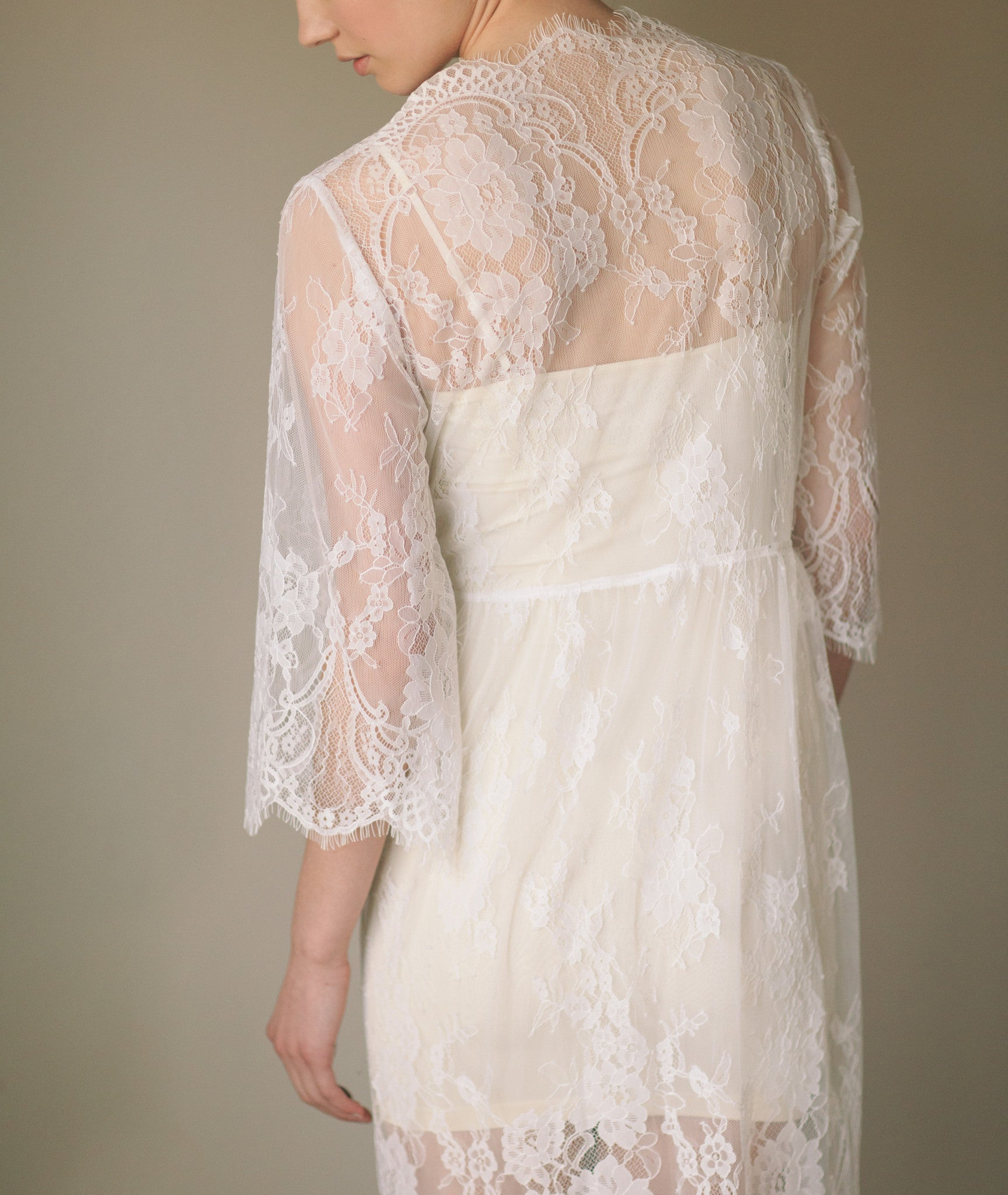 Bridal Lace Robe Kimono (#Isabella) - Dream Dresses by P.M.N  - 6