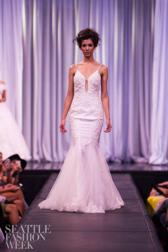 Sample Sale/ Spaghetti Strap Mermaid Wedding Dress With Bare Back (#PB088) - Dream Dresses by P.M.N  - 5