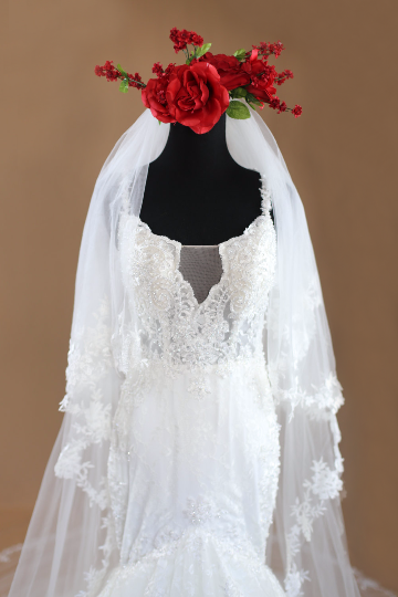 Lace Wedding Veil (#PB149) - Dream Dresses by P.M.N  - 2