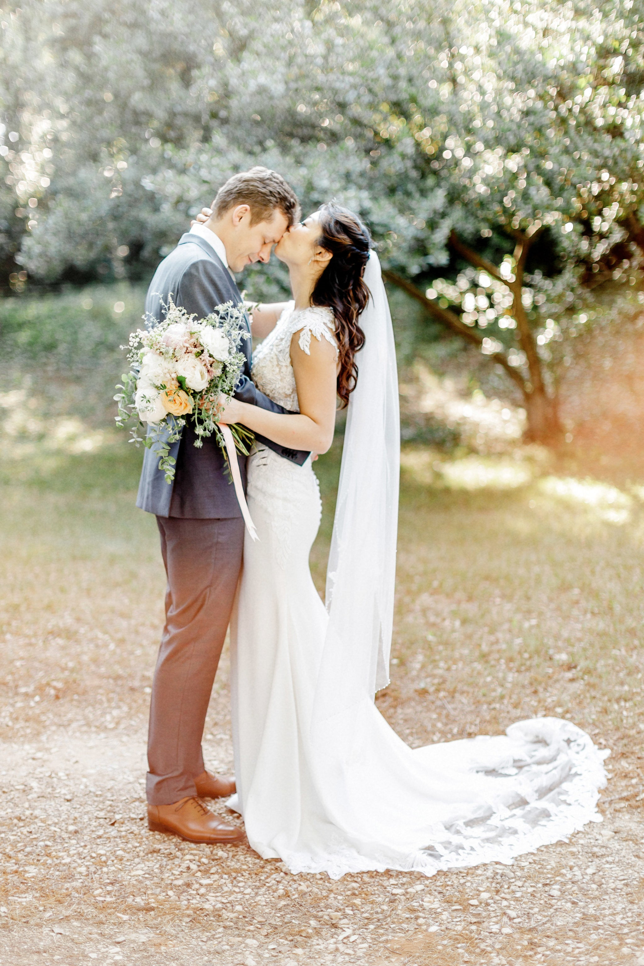 Crepe and Lace Wedding Dress (#Jeanna)