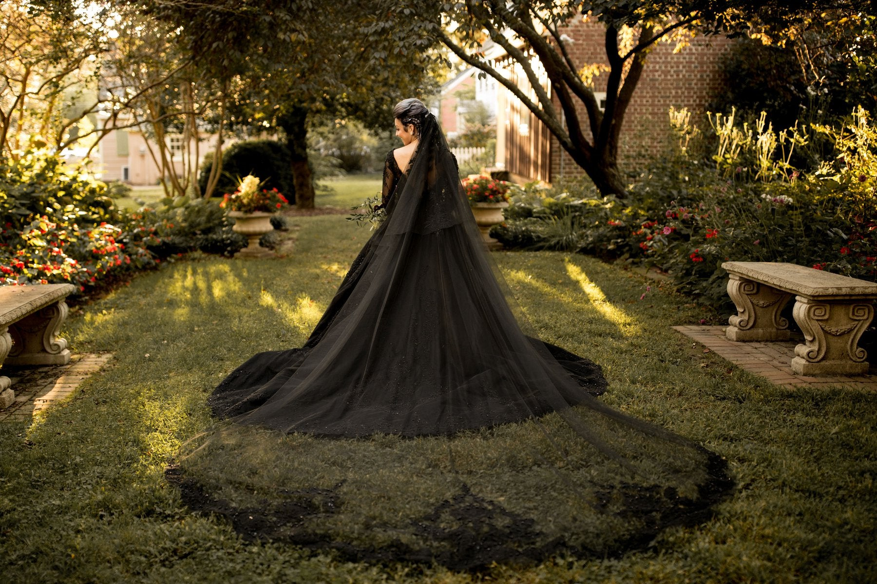 Black Ball Gown Wedding Dress (#Gabrielle)