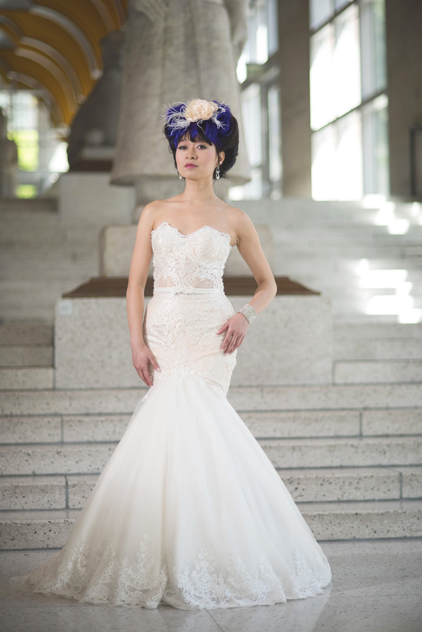 Sheer Bodice Trumpet Wedding Dress (#Betty) | Mermaid Wedding Dress ...