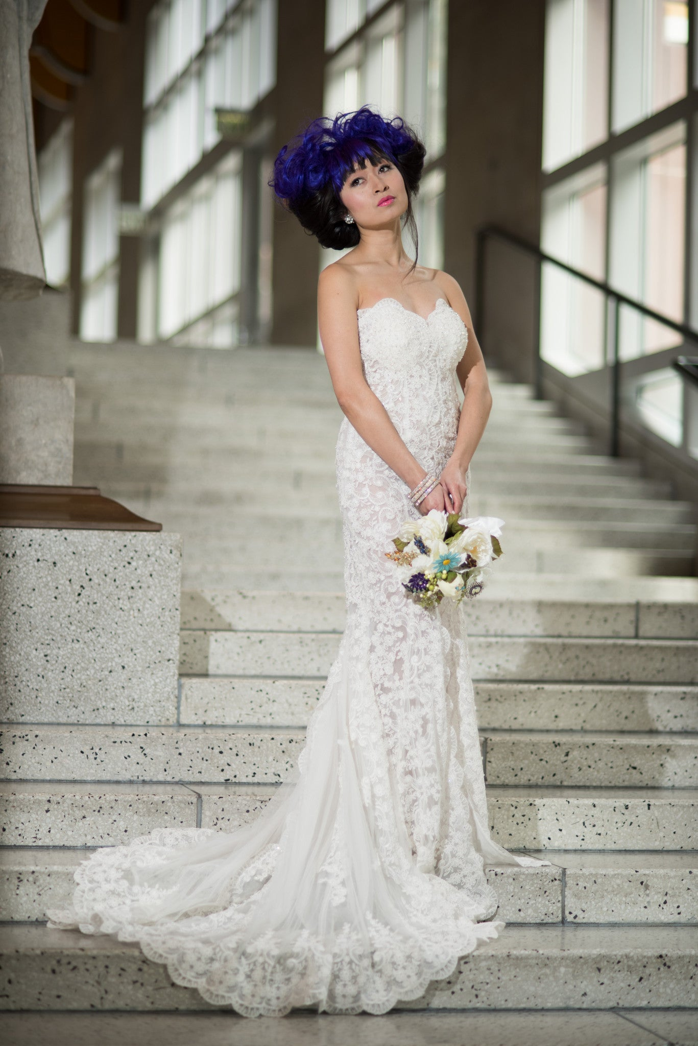 Lace Wedding Dress with High Slit (#Juliet)