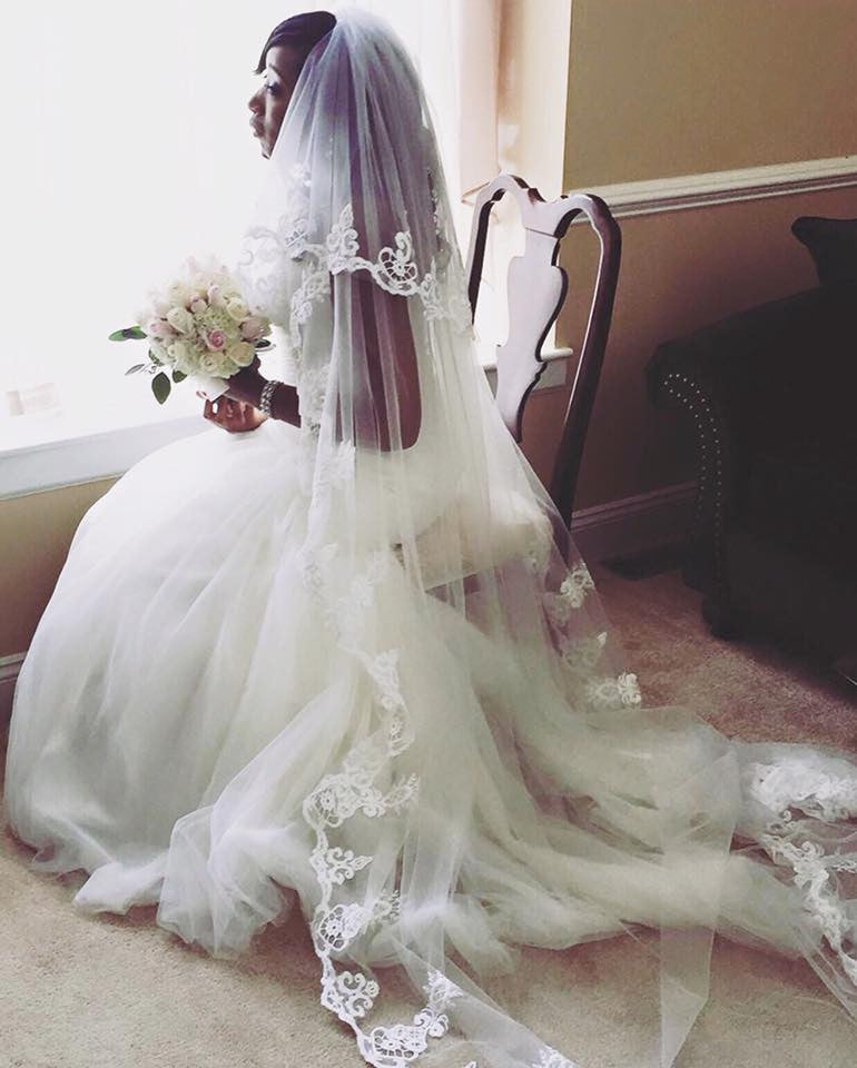 Two-Layer Lace Cathedral Wedding Veil  (#PB201) - Dream Dresses by P.M.N  - 2