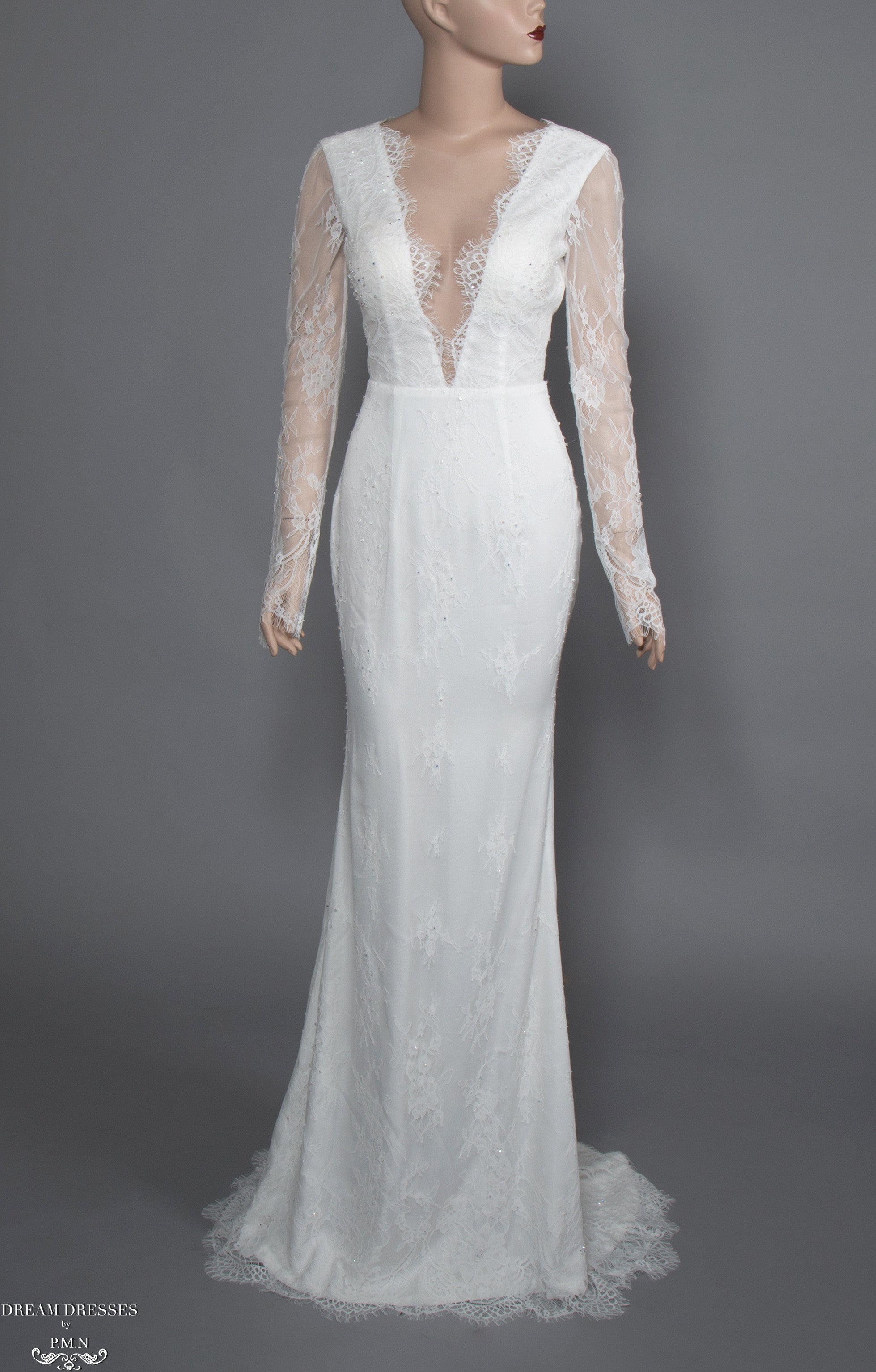 Long Sleeve Lace Wedding Dress (#Acacia)