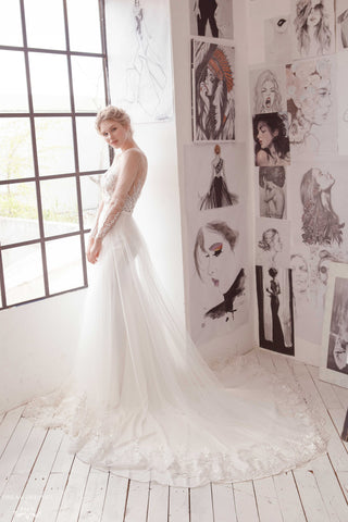 Removable Bridal Overskirt (#Alviva)