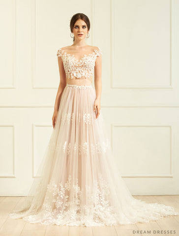 Two-Piece Wedding Dress (#Amelia)