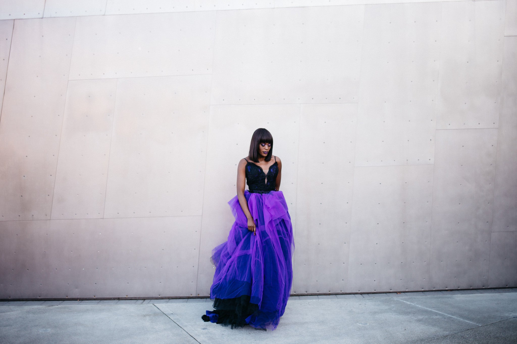 Black And Purple Ball Gown (#Noah)