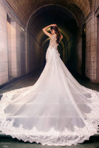 Detachable Lace Wedding Train (#Bette)