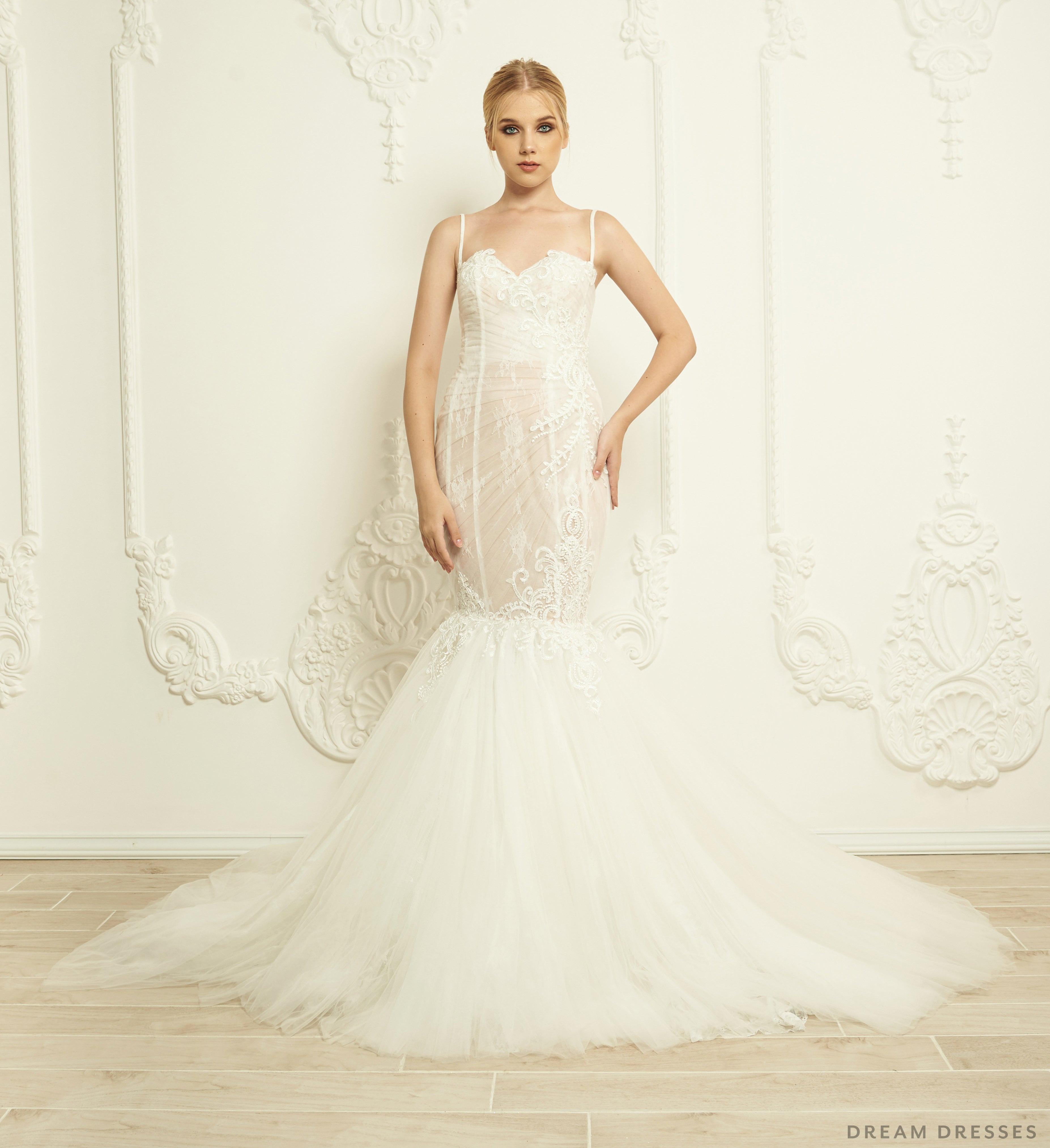 Lace Trumpet Wedding Dress (#Cierra)