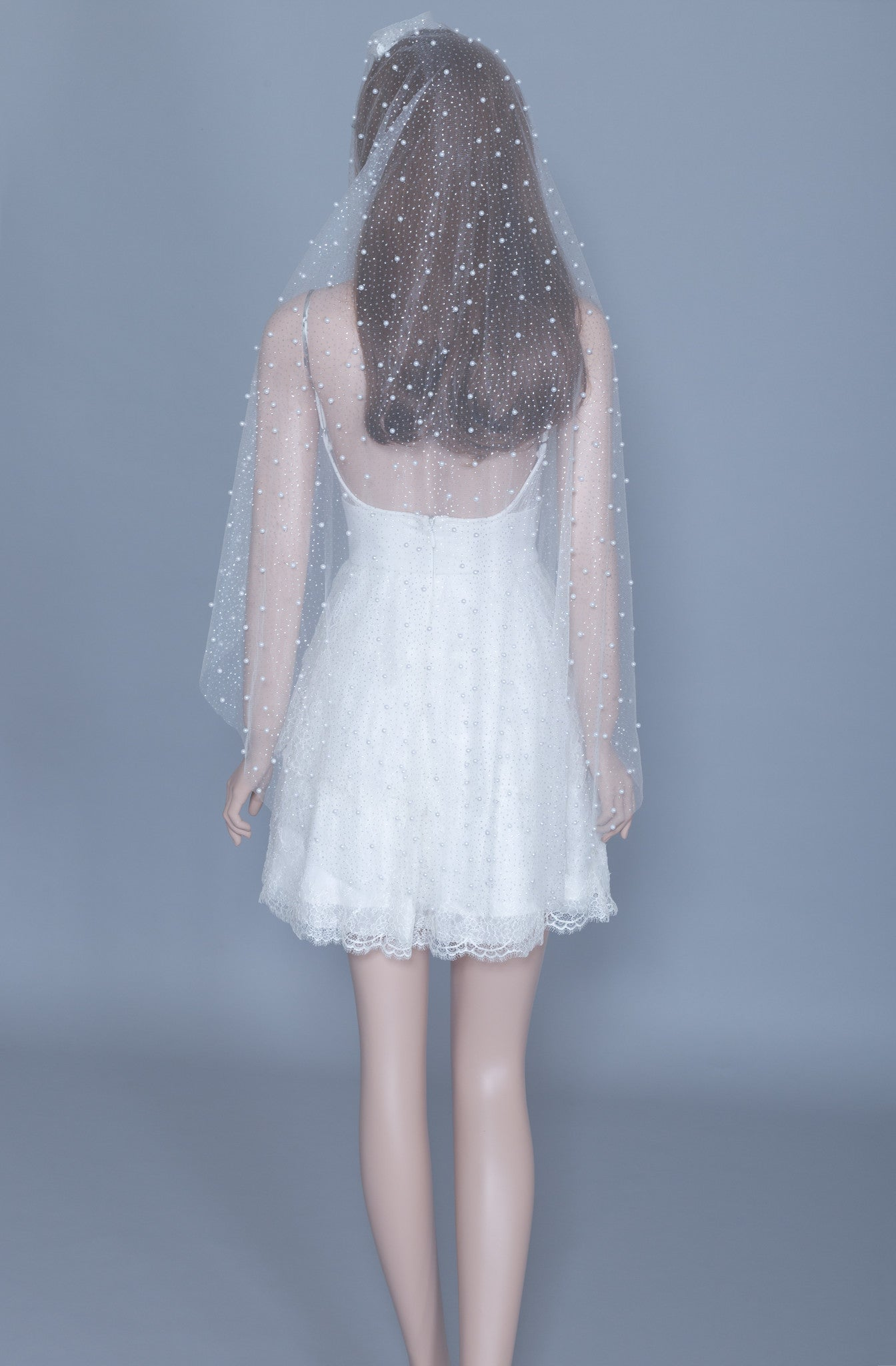 Fingertip Pearls Veil (#Callista) - Dream Dresses by P.M.N  - 2