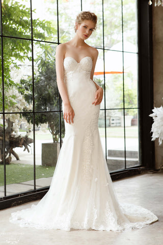 Lace Strapless Mermaid Wedding Dress (#Camille)