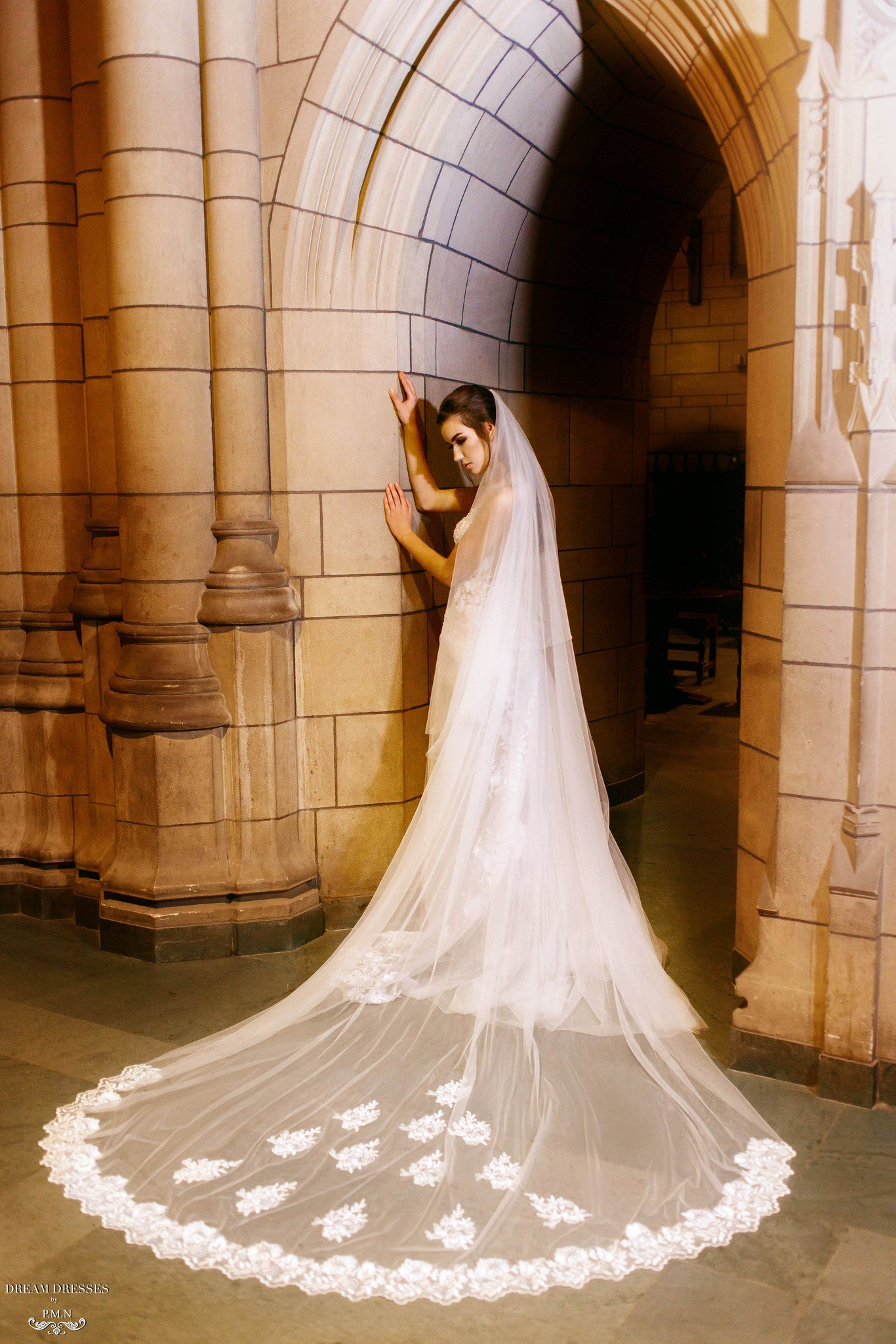 Cathedral Wedding Veil (#Cécile) - Dream Dresses by P.M.N  - 1