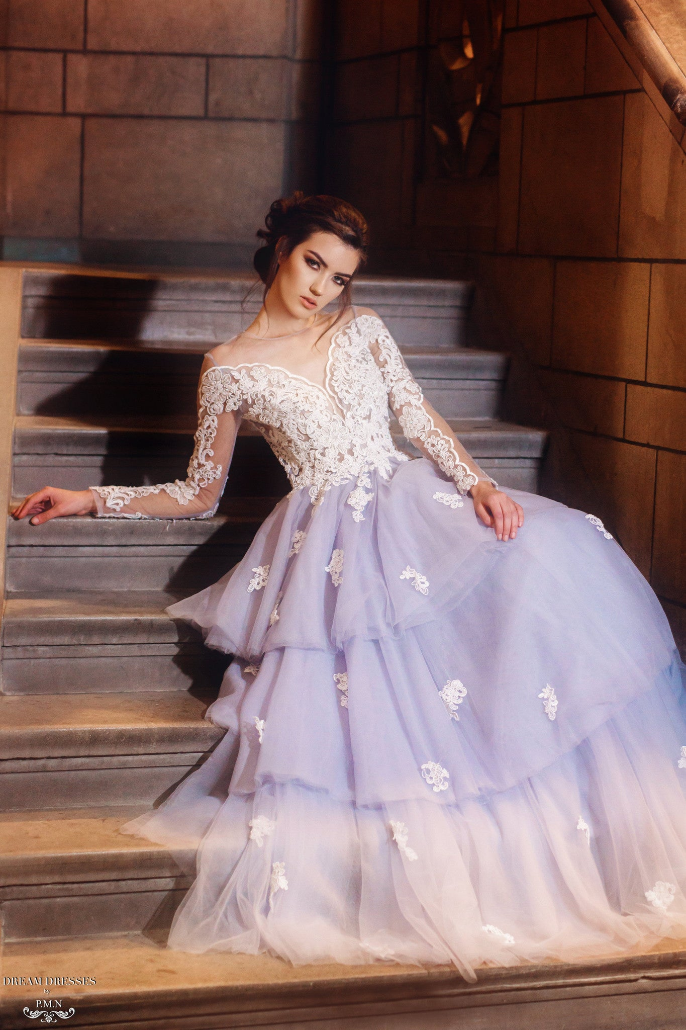 Tiered Tulle Ball Gown (#Cherilyn)