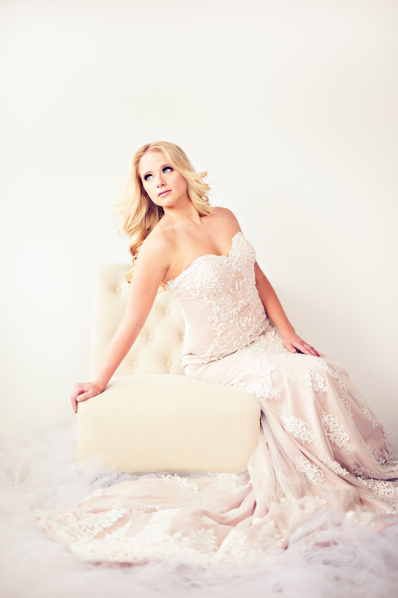 SAMPLE SALE/ Sheath Beaded Lace Wedding Dress (# IngaLisa) | Dream ...