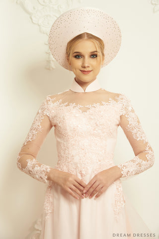 Ao Dai Hat | Vietnamese Bridal Hat (#EVELYN)