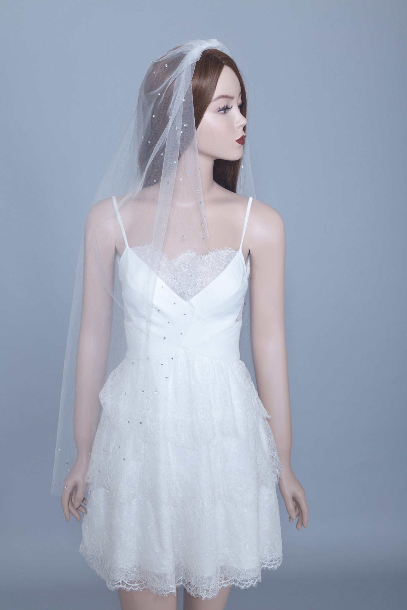 Swarovski Crystals Veil (#Gaia) - Dream Dresses by P.M.N  - 1