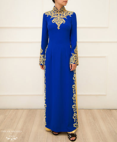 Blue Ao Dai / Mother of The Bride Ao Dai (#GINA)