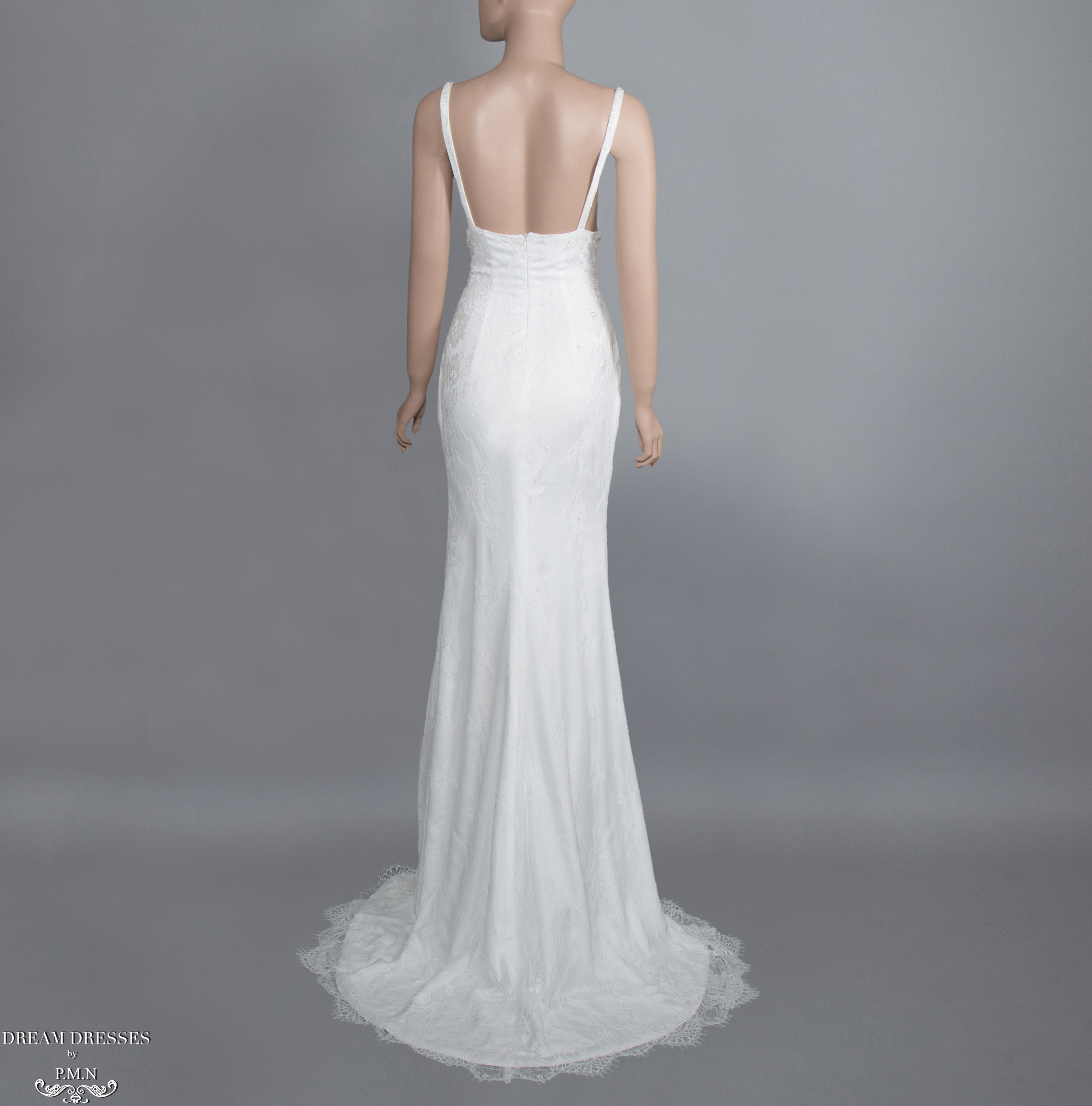 Chantilly Lace Wedding Dress (#Giselle)