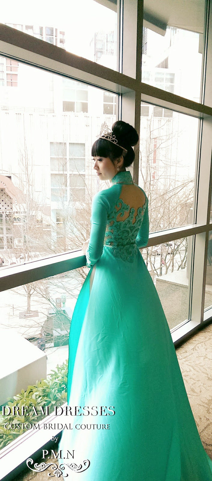 Silk Ao Dai | Custom Made Vietnamese Traditional Bridal Dress (#VALENTINA)