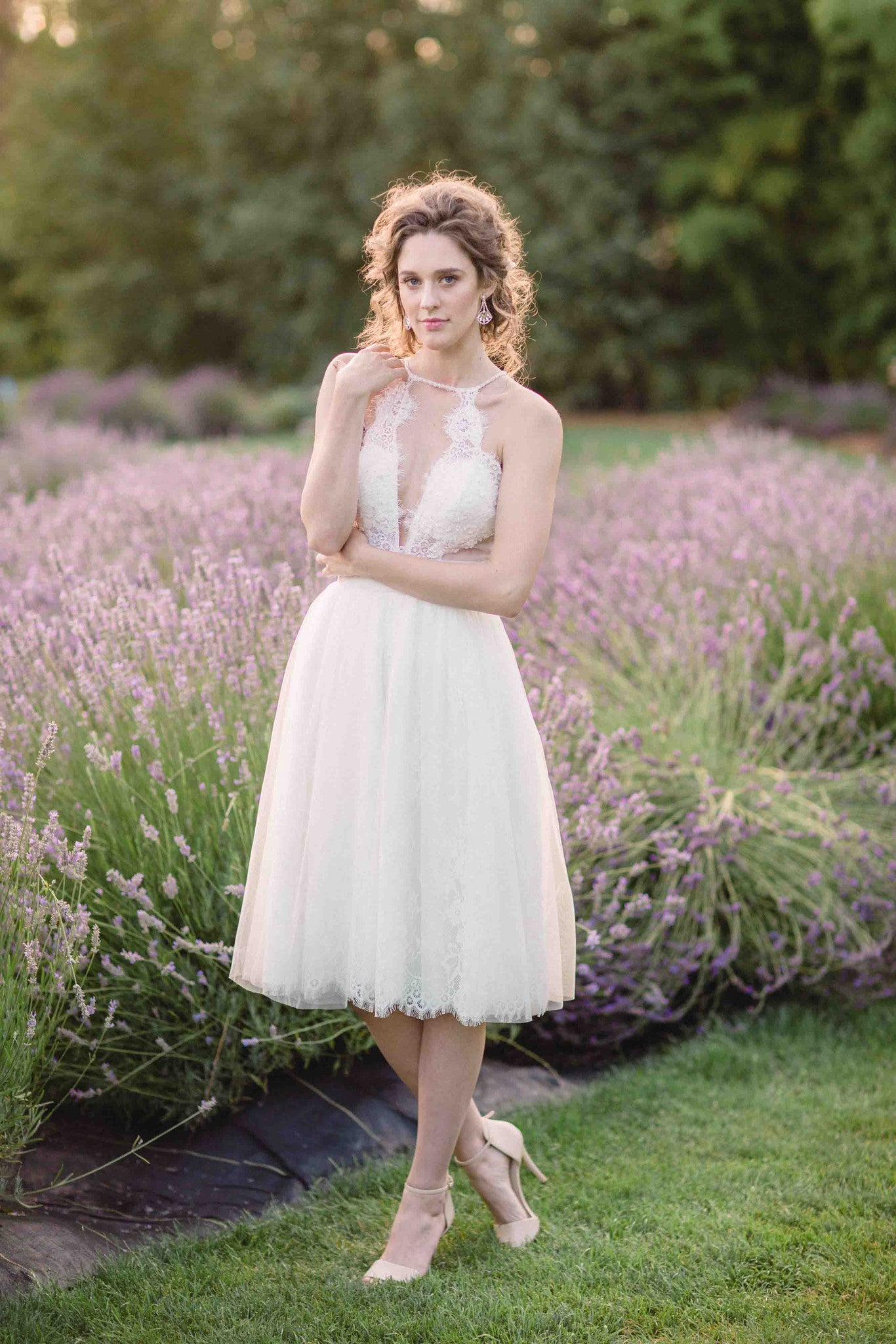Tea Length Wedding Dress (# Alice ) - Dream Dresses by P.M.N  - 2