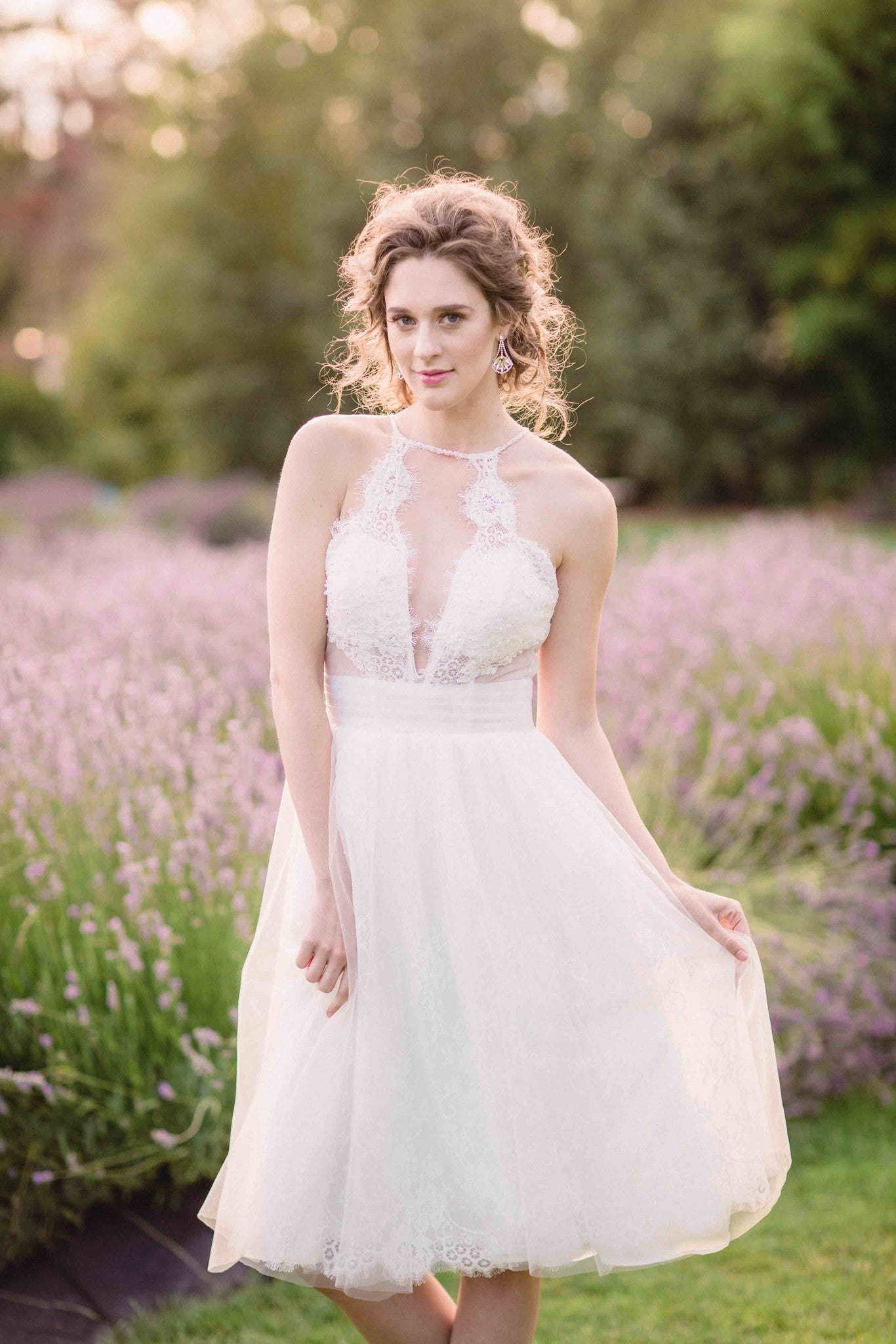 Tea Length Wedding Dress (# Alice ) - Dream Dresses by P.M.N  - 1