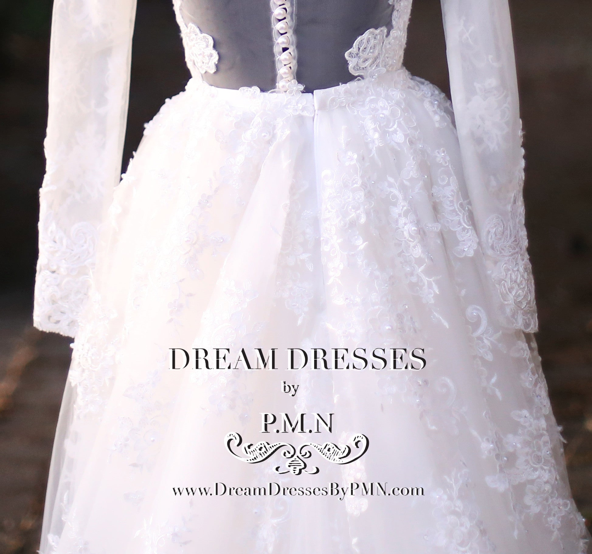 Detachable Lace Tulle Skirt (Style #SS16307) - Dream Dresses by P.M.N  - 7