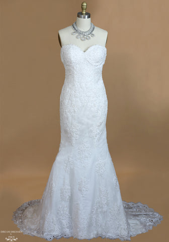 Lace Mermaid Wedding Dress With Cathedral Train (#Karoline)