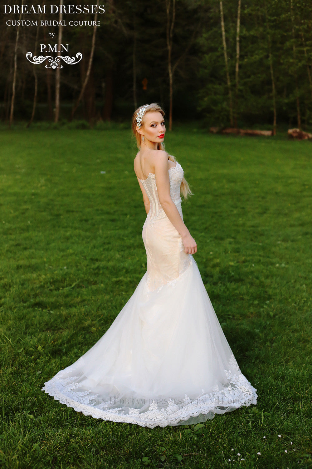 Strapless Trumpet Wedding Dress (# Betty)