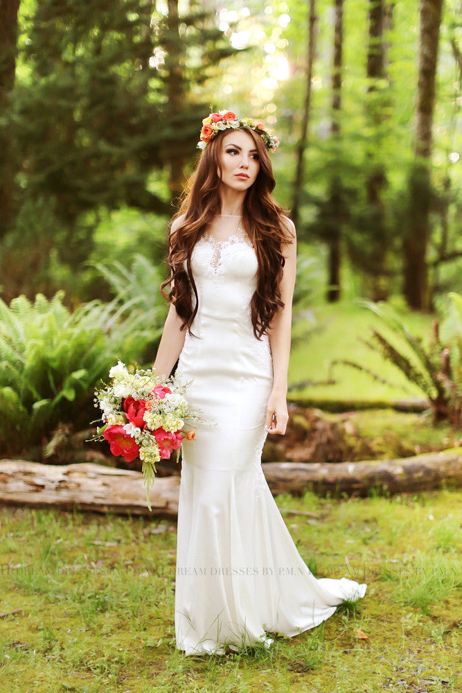 SAMPLE SALE/ Sheath Wedding Dress (#Lily)