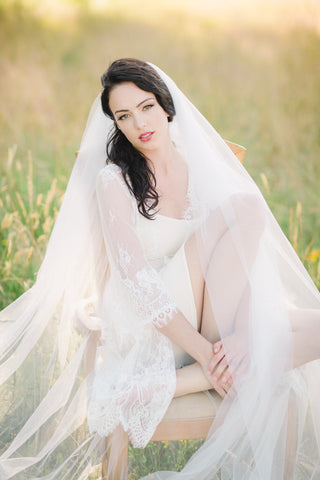 Bridal Lace Robe (#Valentina) - Dream Dresses by P.M.N  - 1