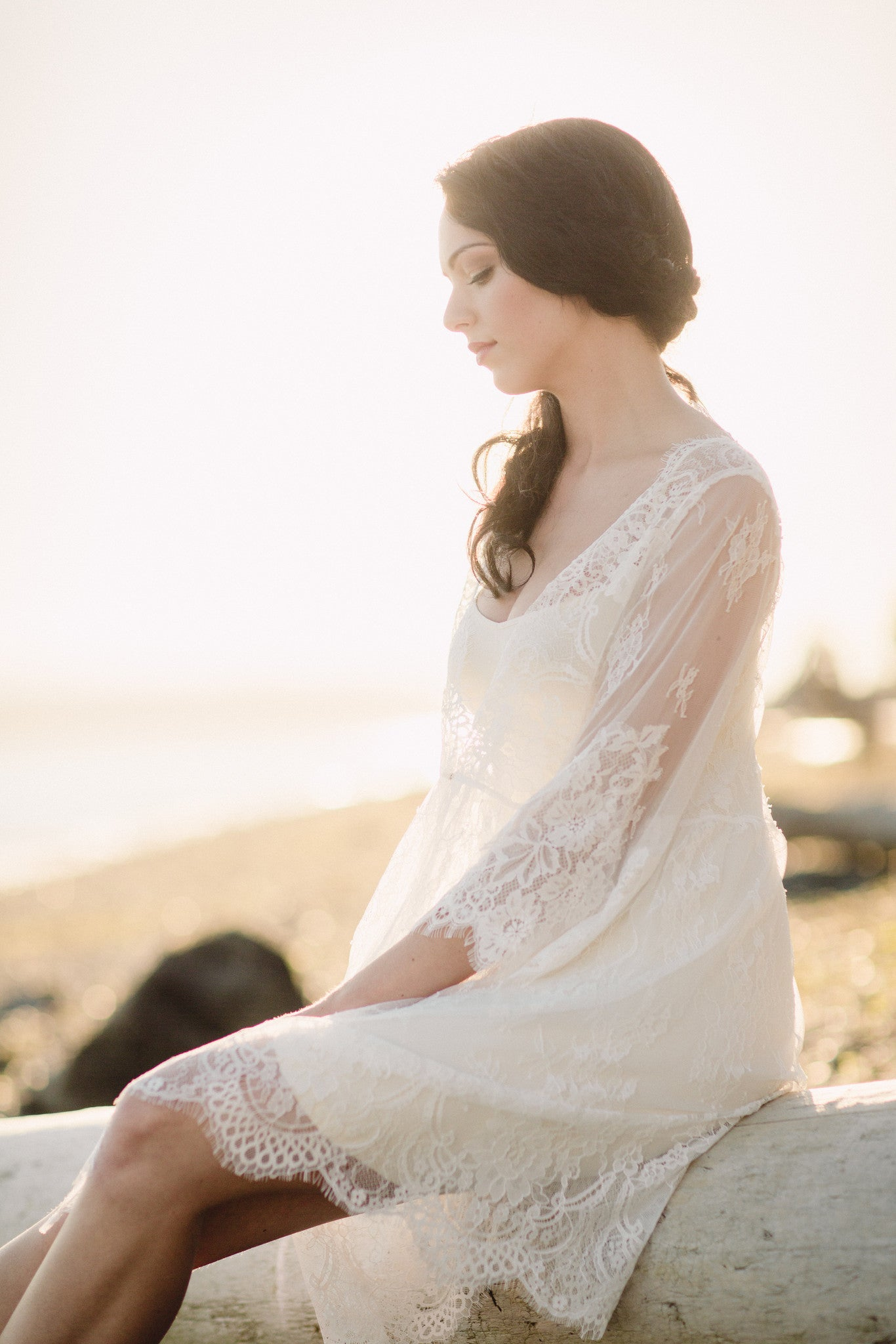 Bridal Lace Robe (#Vela)