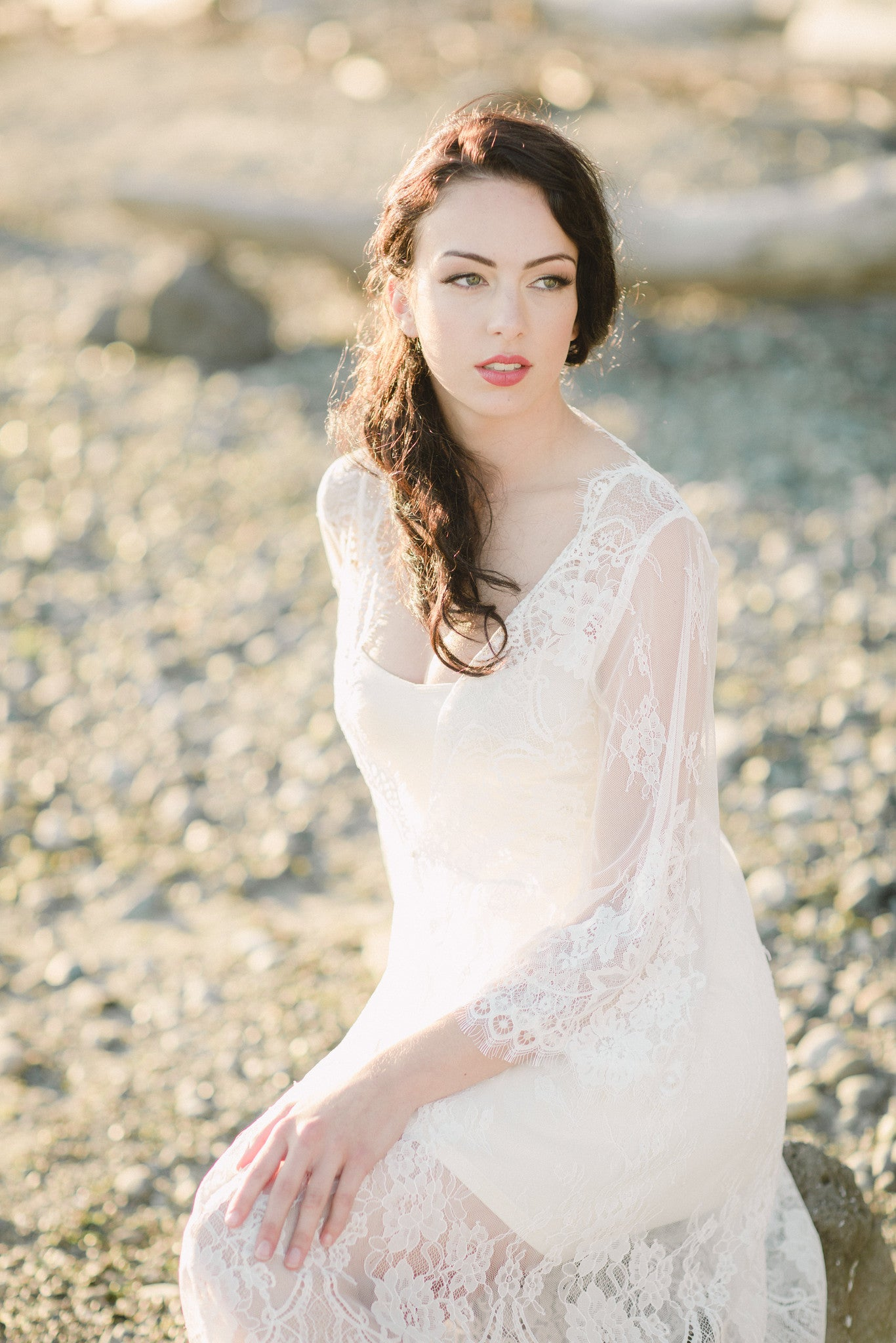 Bridal Lace Robe (#Valentina)