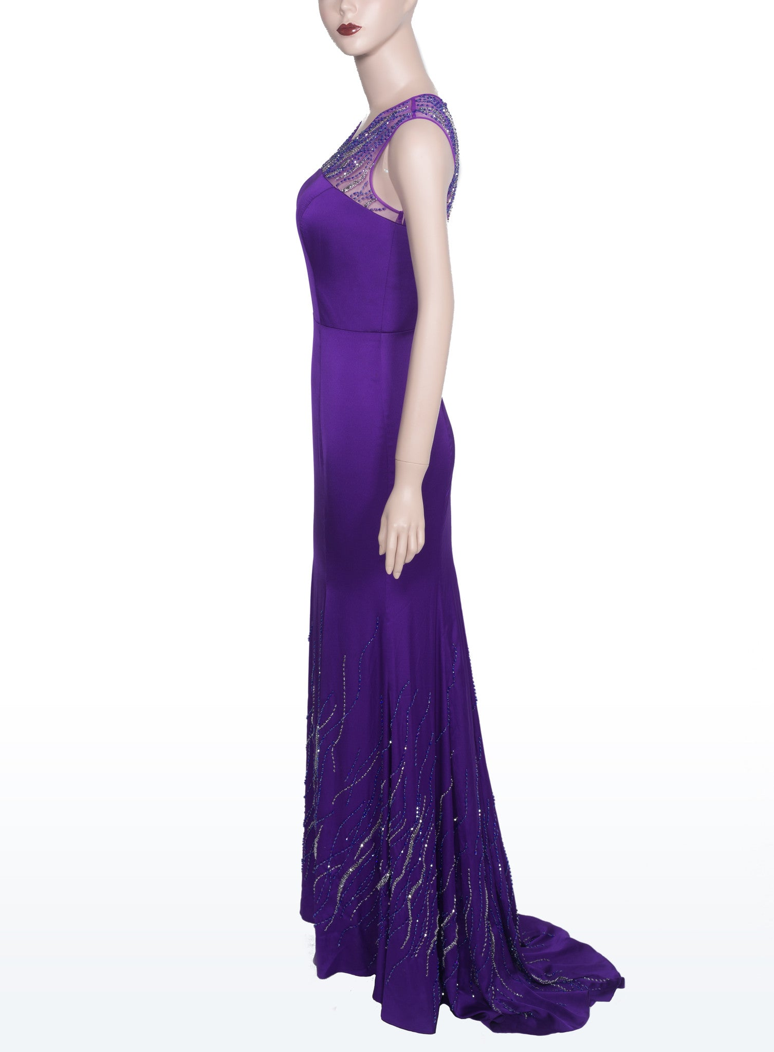 Purple Bead-embellished Dress (#Nicolle) - Dream Dresses by P.M.N  - 4
