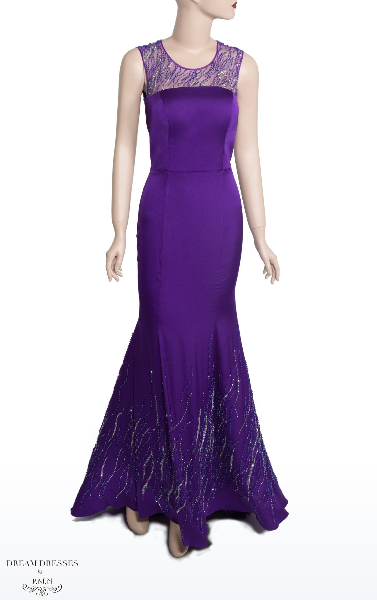 Purple Bead-embellished Dress (#Nicolle) - Dream Dresses by P.M.N  - 1