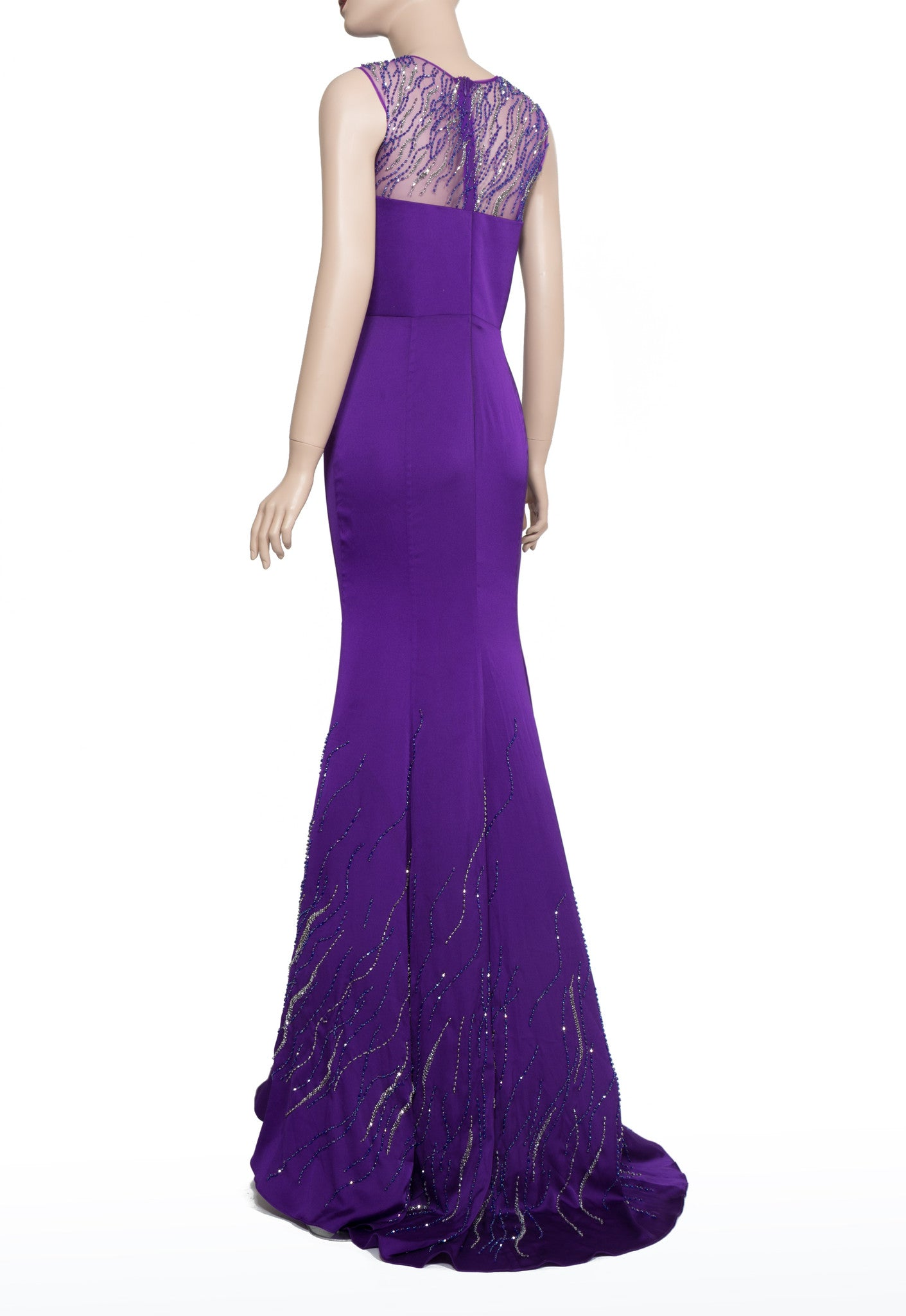Purple Bead-embellished Dress (#Nicolle) - Dream Dresses by P.M.N  - 7