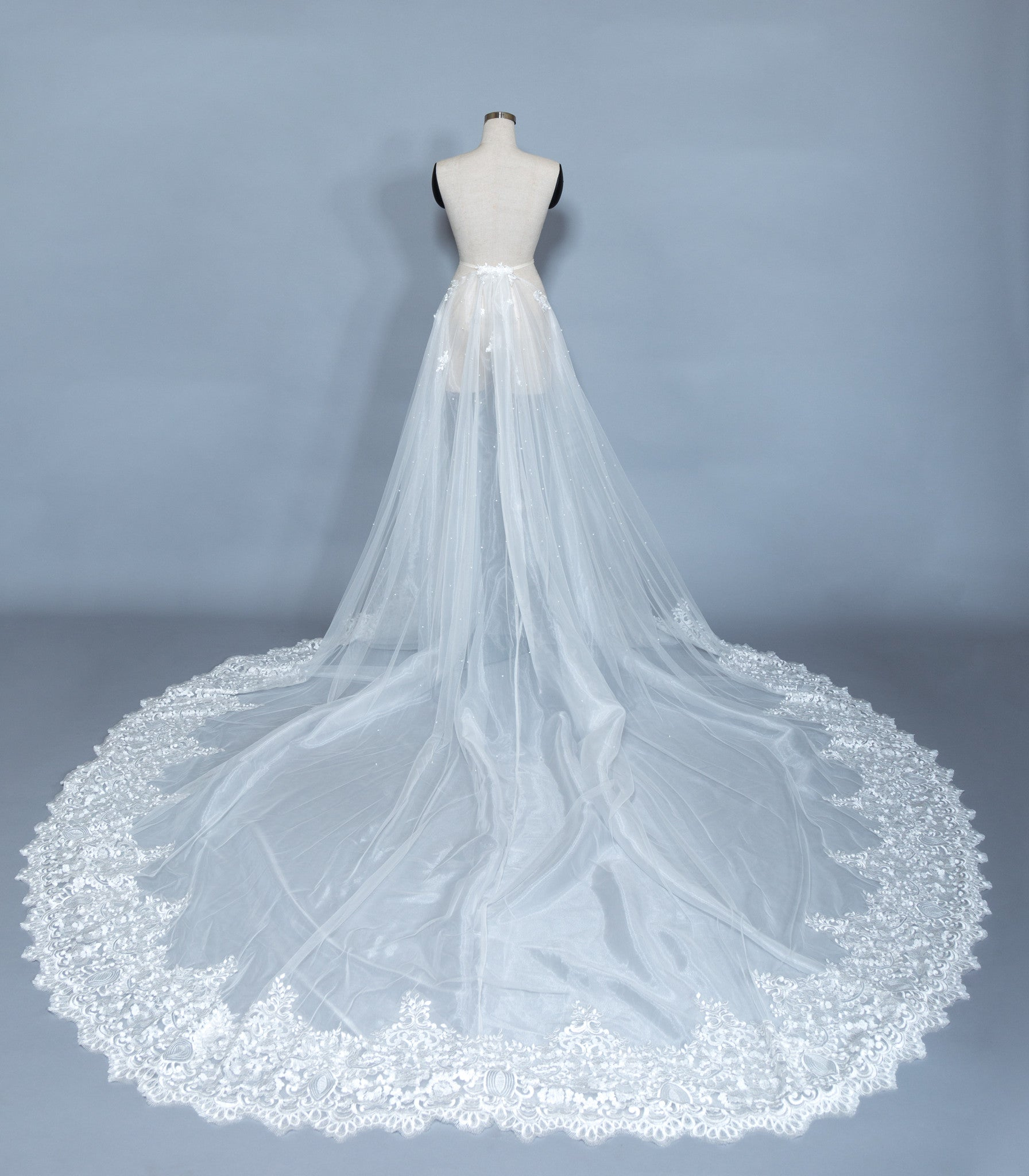 Detachable Lace Wedding Train (#Beryl) - Dream Dresses by P.M.N  - 5