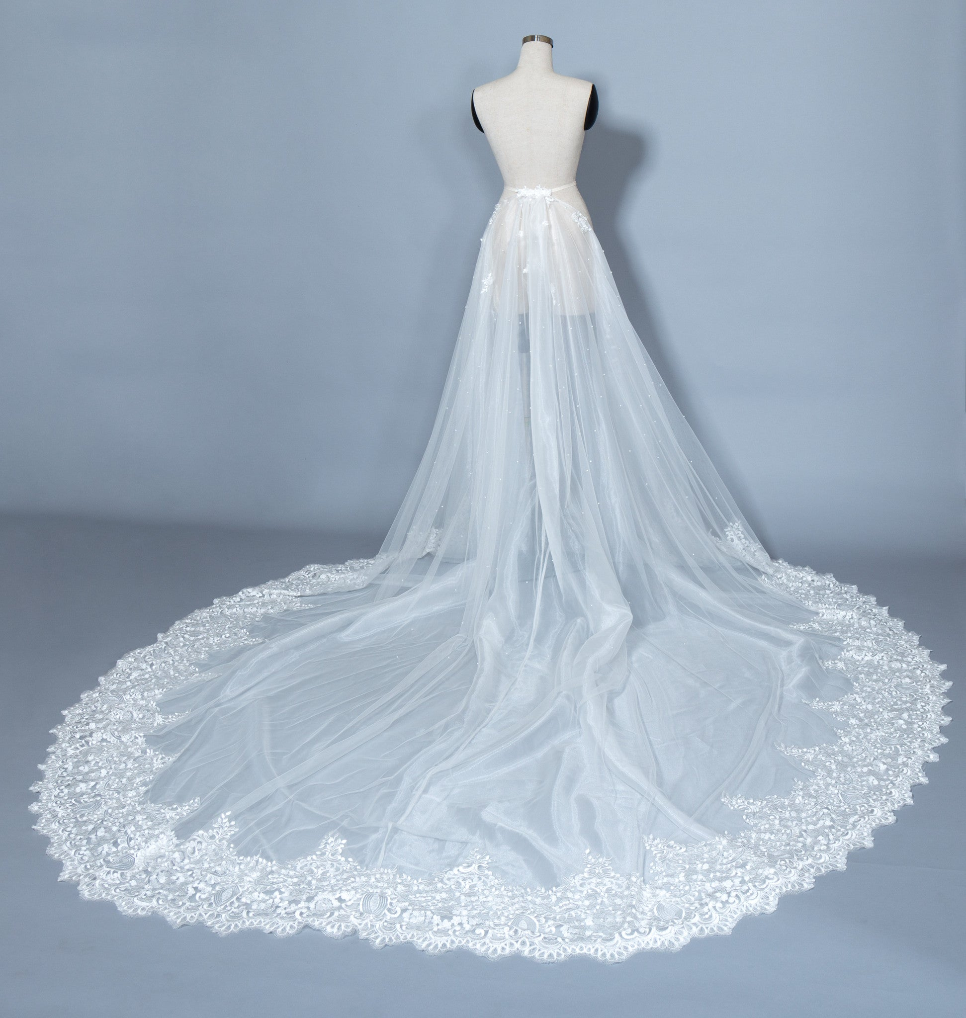 Detachable Lace Wedding Train (#Beryl)