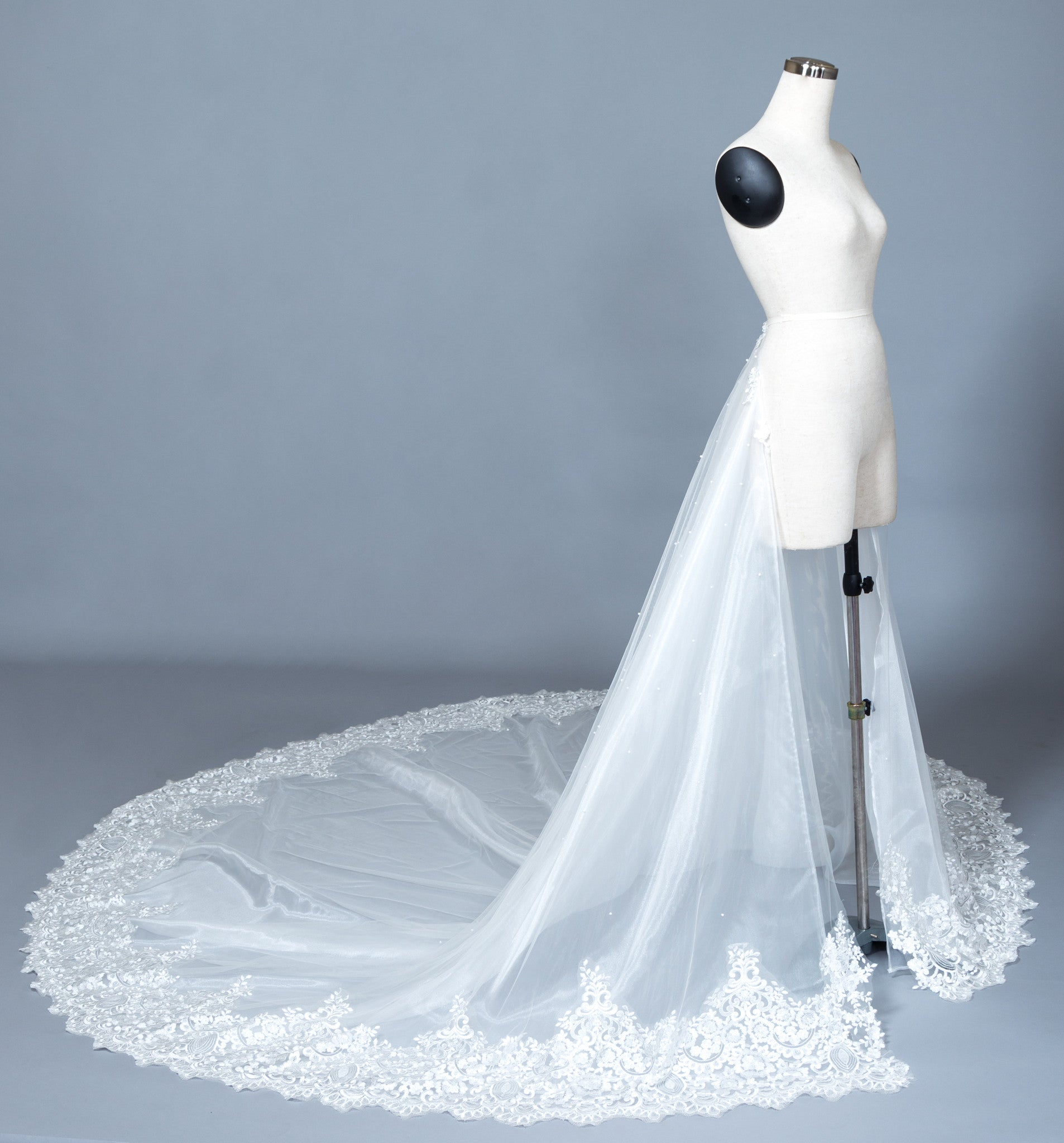 Detachable Lace Wedding Train (#Beryl) - Dream Dresses by P.M.N  - 1