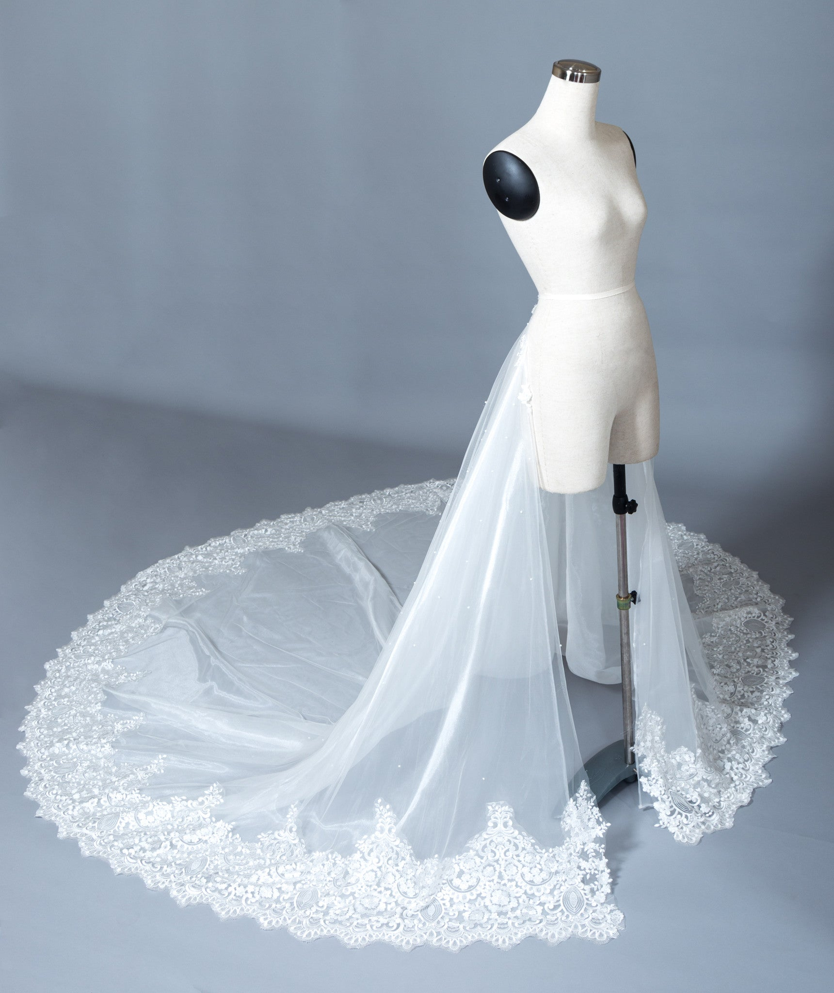 Detachable Lace Wedding Train (#Beryl) - Dream Dresses by P.M.N  - 3